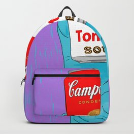 want some can soup? Backpack