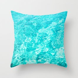 Crystal Clear Sea Water Throw Pillow