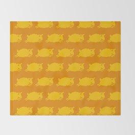 Counting Sheep. Yellow on Orange. Throw Blanket