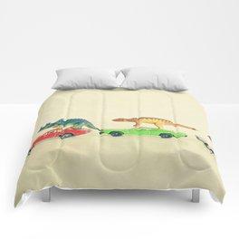 Dinosaurs Ride Cars Comforters
