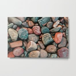 Pebbles of Isle of Skye Metal Print