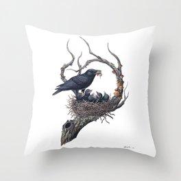 American Crow Throw Pillow