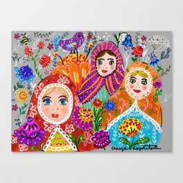 Pretty Ladies Canvas Print