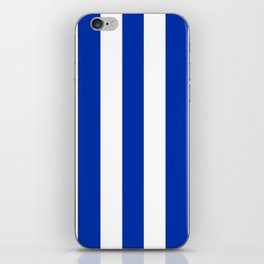 International Klein Blue - solid color - white vertical lines pattern iPhone Skin