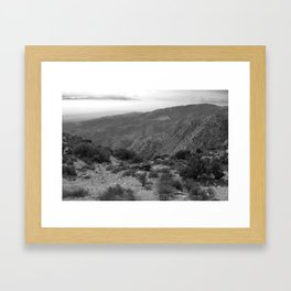 mountain overlook Framed Art Print