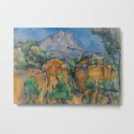 The Montagne Sainte-Victoire seen from the Bibémus quarry Metal Print