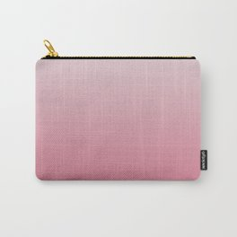 White to Pink Ombre Shaded Cherry and Coconut Sorbet Ice Cream Gelato Carry-All Pouch