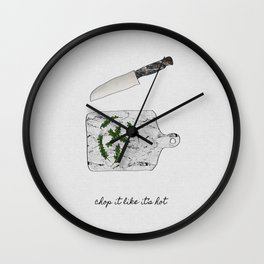 Chop It Wall Clock