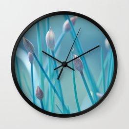 Allium turquoise 95 Wall Clock