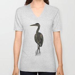 Grey Heron Unisex V-Neck