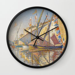 Tartans With Flags Wall Clock