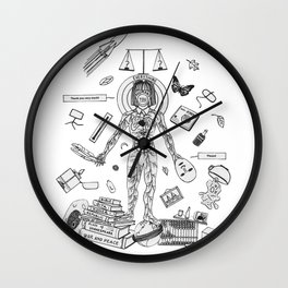 Behave Yourself Wall Clock