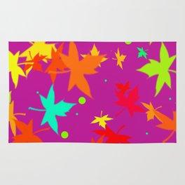 Forever Autumn Leaves purple 4 Rug