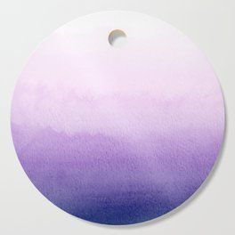 Purple Watercolor Design Cutting Board