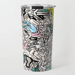 Kamasutra LOVE Doodle Closeup Color Valentine Travel Mug