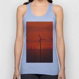 Wind Farms (Digital Art) Unisex Tank Top