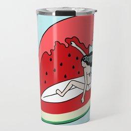 Watermelon Surf Travel Mug