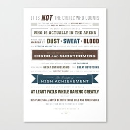 The Man in the Arena Canvas Print