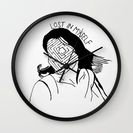 Lost in Myself Wall Clock
