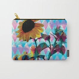 Sunflowers and a bee Carry-All Pouch
