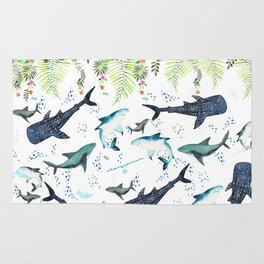 floral shark pattern Rug