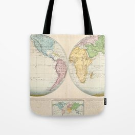 Vintage Map of The World (1862) 2 Tote Bag
