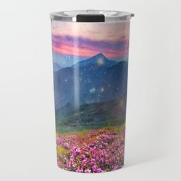 Blooming mountains Travel Mug