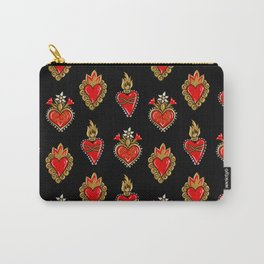 Sacred hearts pattern Carry-All Pouch