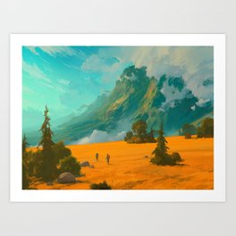 Mountain Trip Art Print