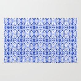 Sapphire Blue Print Rug