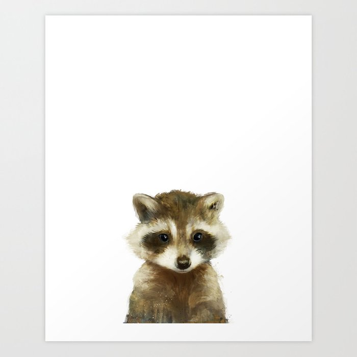 Sunday's Society6 | Little animal racoon art print
