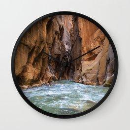 Swept Away (The Narrows, Zion National Park, Utah) Wall Clock