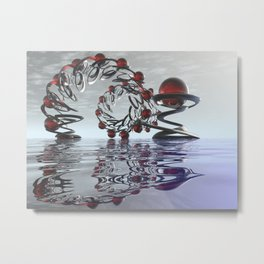 Surreal Christmas in the sky  Metal Print