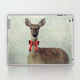 Christmas Deer Holiday Greetings Laptop & iPad Skin