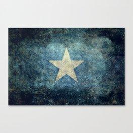 Somalian national flag - Vintage version Canvas Print