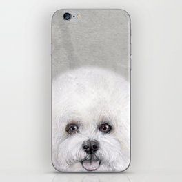Bichon illustration, Dog illustration original painting print iPhone Skin