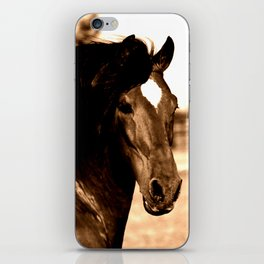 Horse print horse photography equestrian art sepia Poster iPhone Skin