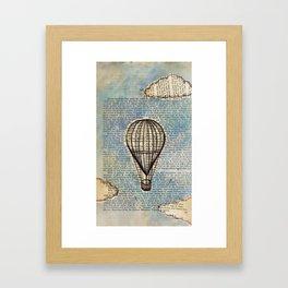 Drifting Slowly Framed Art Print