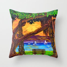 Maui Banyan Bliss Throw Pillow
