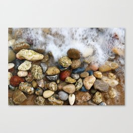 Stones at the beach Canvas Print