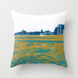 Seaview Kingsway in Turquoise Throw Pillow