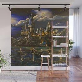 Hogwarts at Starry night Wall Mural