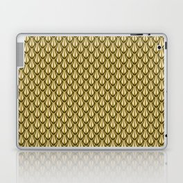 Gleaming Gold Leaf Scalloped Scale Pattern Laptop & iPad Skin