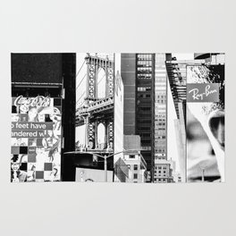 City Architecture Collage Rug