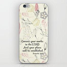 Proverbs 16:3 iPhone Skin
