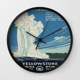 Vintage poster - Yellowstone Wall Clock