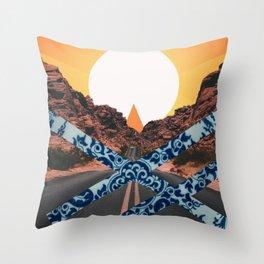 delftware desert Throw Pillow