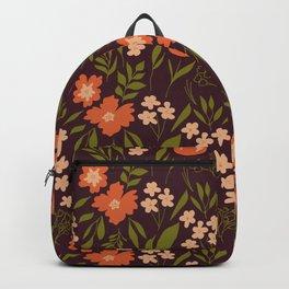 Warm Dark Floral Backpack
