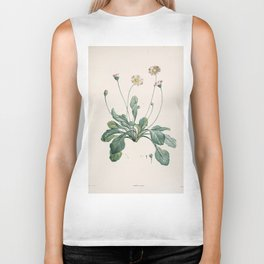 Daisy Flower Botanical Illustration Biker Tank