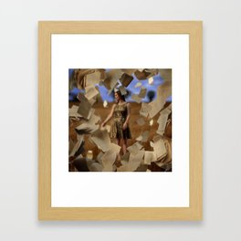 Falling Pages Framed Art Print